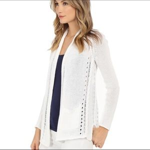 Lilly Pulitzer Leah White Knit Cardigan Sweater